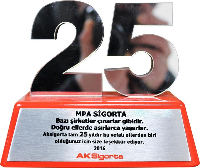 MPA sigorta 25.yıl onur ödülü aldı